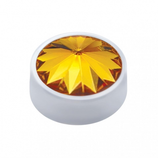 12 mm Diamond Accent – Amber